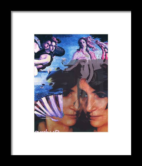 Human Composition Framed Print featuring the digital art Renissane Women by Noredin morgan