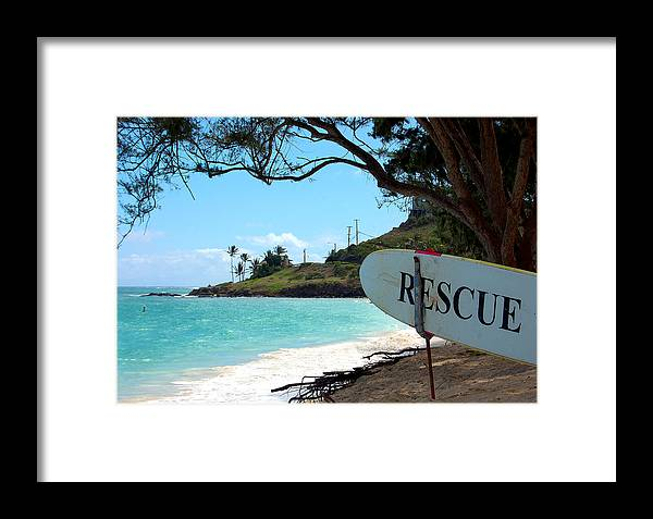 Hawaii Framed Print featuring the photograph Rescue Me by Heather S Huston