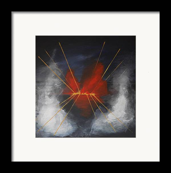 Water Framed Print featuring the painting Resh by Cecilia August Sand