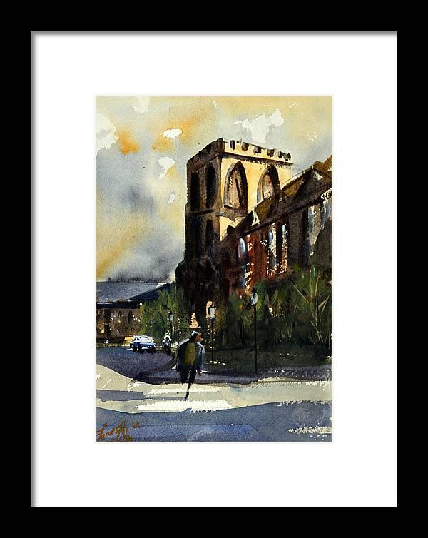 Catholic Framed Print featuring the painting Residences, Catholic University by James Nyika