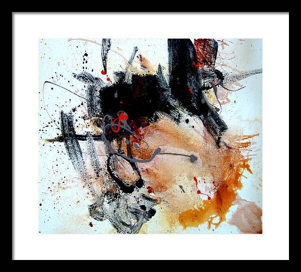 Abstract Framed Print featuring the painting Resolving Issues by Dale Witherow