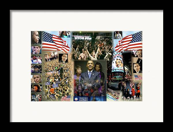 Barack Framed Print featuring the digital art Respectfully Yours..... Mr. President by Terry Wallace