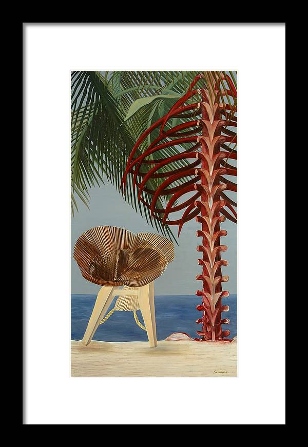 Beach Framed Print featuring the painting Rest In Peace by Sunhee Kim Jung