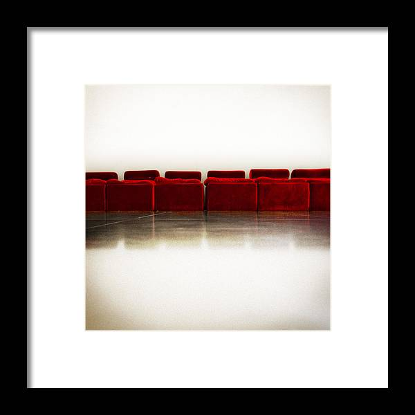 Red Framed Print featuring the photograph Rest by Nelson Mineiro