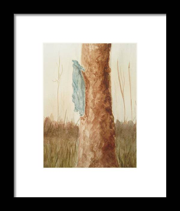 Coat Framed Print featuring the painting Rest by Robby Entrekin