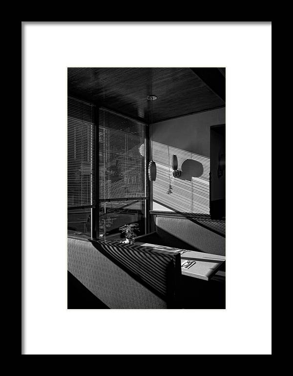 Restaurant Framed Print featuring the photograph Restaurant Late Afternoon by Robert Ullmann