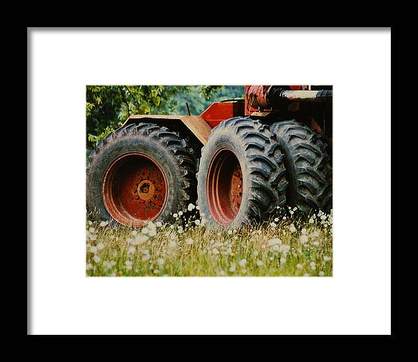 Farm Framed Print featuring the photograph Restfull And Tired by Lori Mellen-Pagliaro