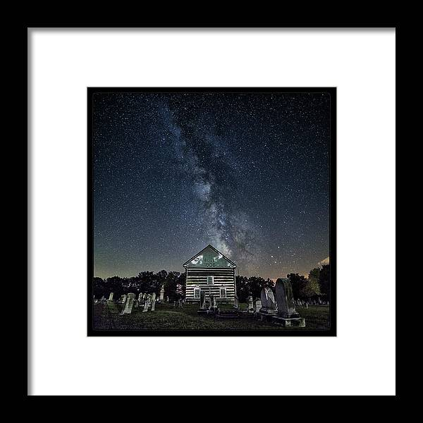 Milky Way Framed Print featuring the photograph Resting In Peace by Robert Fawcett