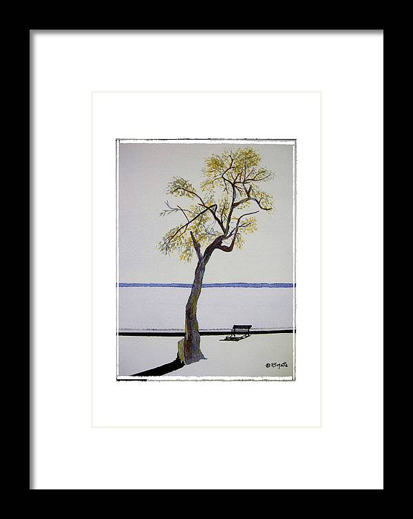 Tree Framed Print featuring the painting Resting Place by Robert Boyette