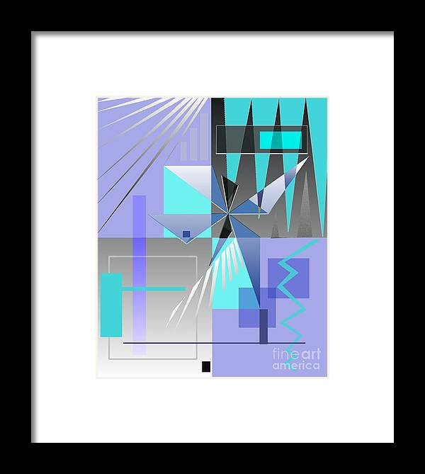 Abstract Framed Print featuring the digital art Restless Night - I by Jo Baby