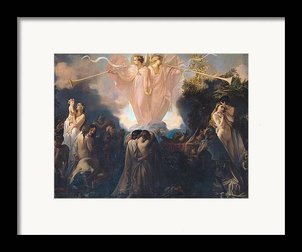 Angels Framed Print featuring the painting Resurrection Of The Dead by Victor Mottez