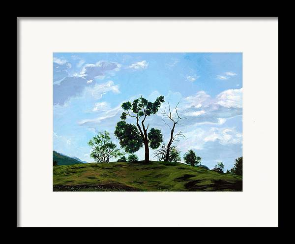 Landscape Framed Print featuring the painting Resurrection Sunday by Jill Iversen