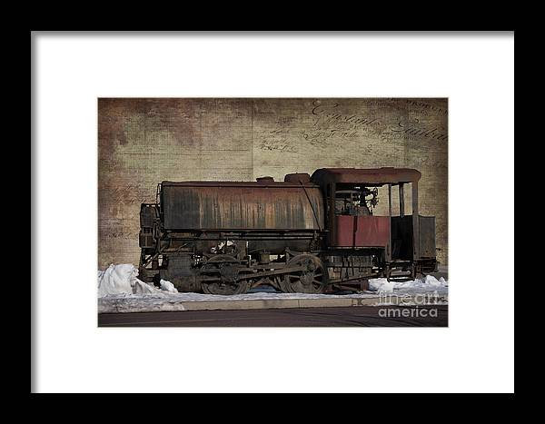 Train Framed Print featuring the photograph Retired 2 by Judy Wolinsky