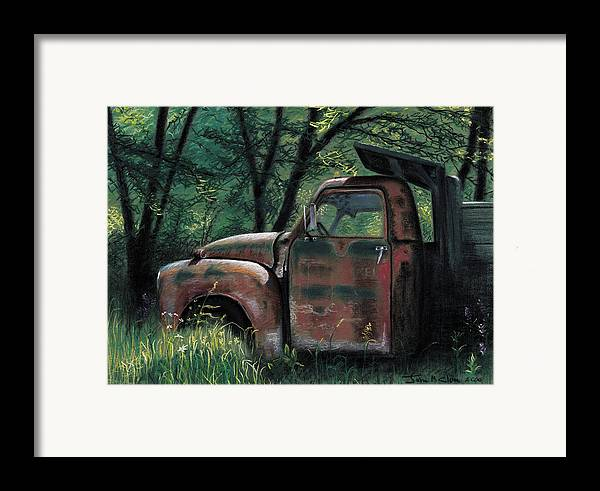 Retired Framed Print featuring the pastel Retired by John Clum