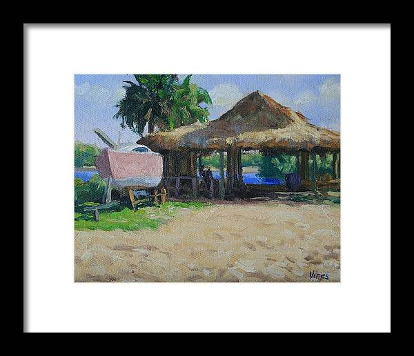 Oil Painting Framed Print featuring the painting Retired by Michael Vires