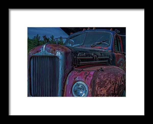 Retired Framed Print featuring the photograph Retired Rusty Mack IIi by Tony Pushard