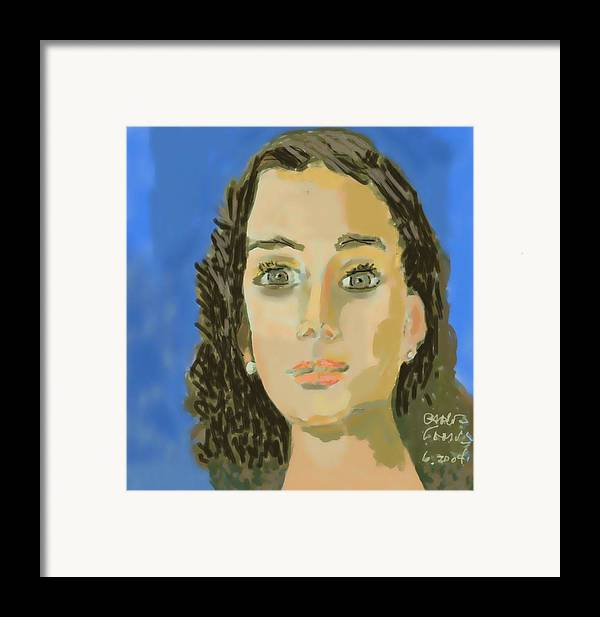 Paint Framed Print featuring the painting Retrato De Mi Hija M. Jose by Carlos Camus