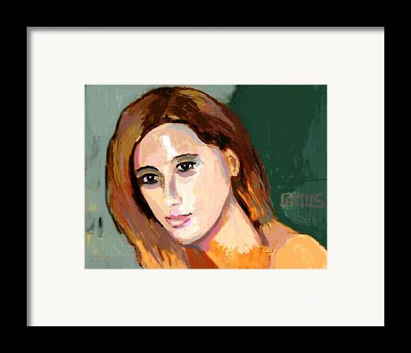 Art Framed Print featuring the painting Retrato Patricia by Carlos Camus