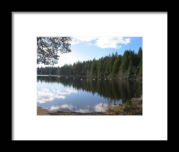 Framed Print featuring the digital art Retreat by Barb Morton