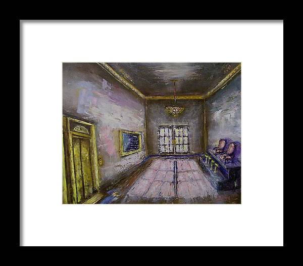 Lobby Framed Print featuring the painting Retro Lobby by Stephen King
