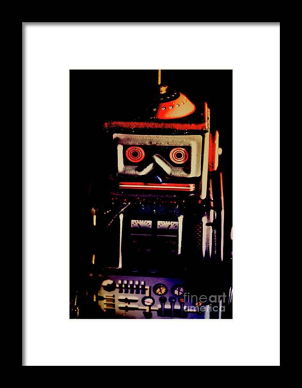 Dark Framed Print featuring the photograph Retro Mechanical Robotics by Jorgo Photography - Wall Art Gallery