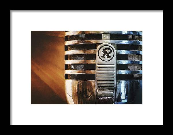 Mic Framed Print featuring the photograph Retro Microphone by Scott Norris