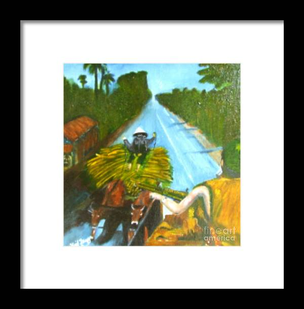 Vietnam Framed Print featuring the painting Return From Ambush by Neil Trapp