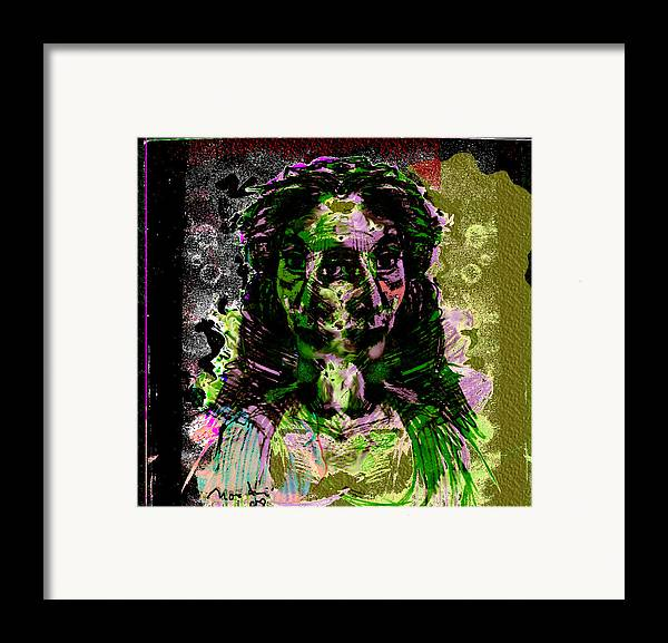 Drawing Framed Print featuring the painting Return My Heart by Noredin Morgan