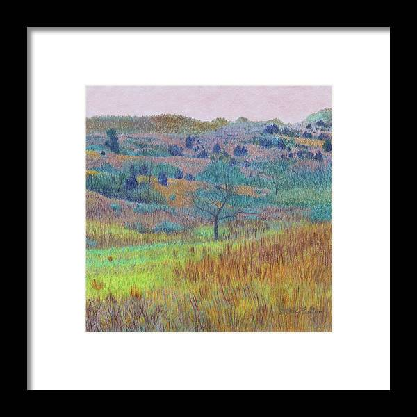 North Dakota Framed Print featuring the painting Return Of Green Dream by Cris Fulton