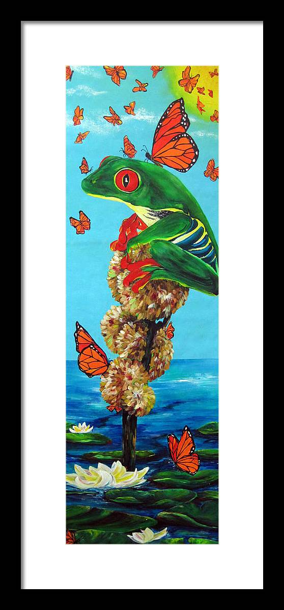 Frogs Framed Print featuring the painting Return Of The Monarchs by Cheryl Ehlers