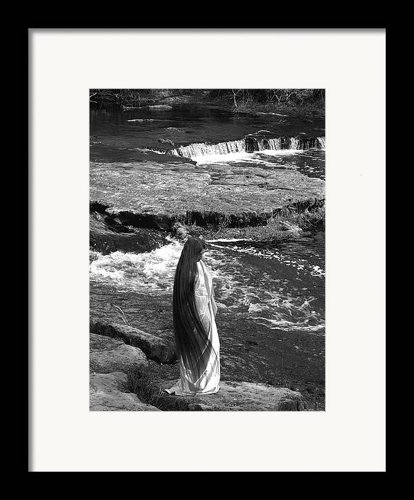 Woman Framed Print featuring the photograph Return To The Falls by Debbie May