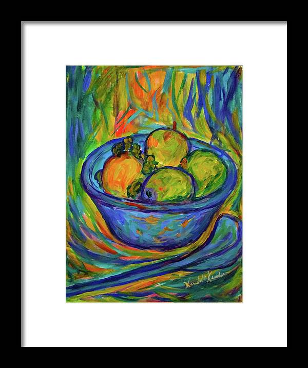 Bowl Paintings Framed Print featuring the painting Returning The Bowl by Kendall Kessler