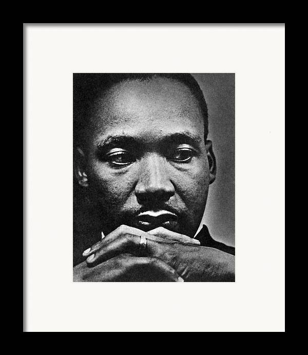 African American Framed Print featuring the photograph Rev. Martin Luther King Jr. 1929-1968 by Everett