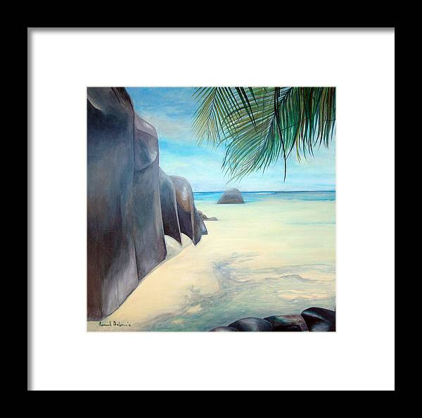 Paysage Framed Print featuring the painting Reve by Muriel Dolemieux