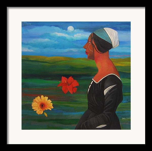 Figure Framed Print featuring the painting Revealed Truths And Myths 7 by Joyce Owens