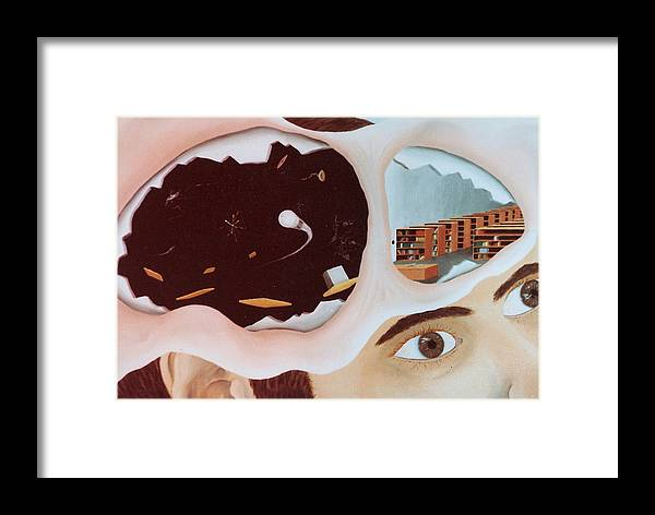 Surrealism Framed Print featuring the painting Revealing The Consicous And Subconsicous by Steven Welch