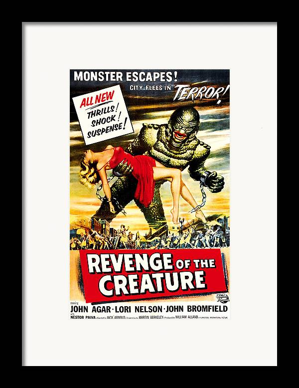 1950s Poster Art Framed Print featuring the photograph Revenge Of The Creature, 1955 by Everett