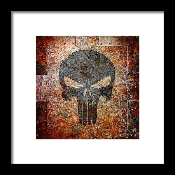 Skull Framed Print featuring the digital art Revenge Will Be Mine by Fred Ber