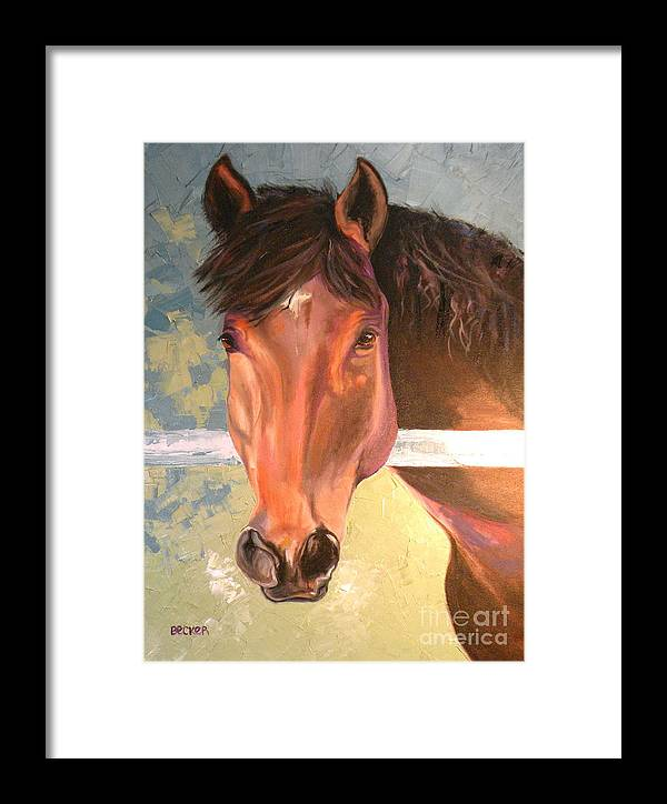 Horse Framed Print featuring the painting Reverie - Quarter Horse by Susan A Becker