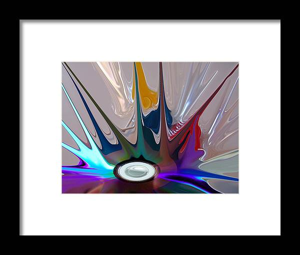 Abstract Framed Print featuring the digital art Revolution by Florene Welebny