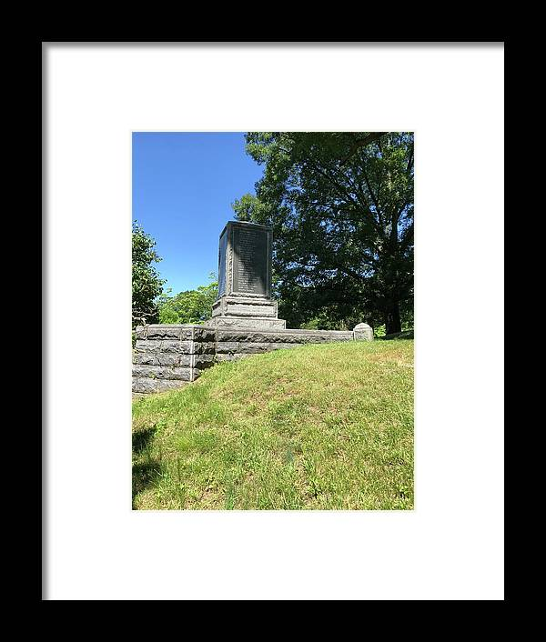 This Is The Backside Of The Revolutionary War Monument At The Sleepy Hollow Cemetery Framed Print featuring the photograph Revolutionary War Monument by William Rogers
