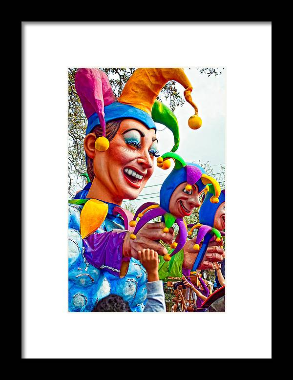 New Orleans Framed Print featuring the photograph Rex Mardi Gras Parade Xi by Steve Harrington