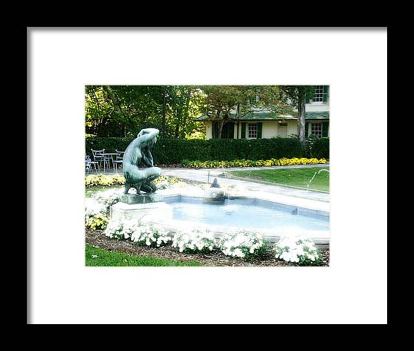 Fountain Framed Print featuring the photograph Reynolda Fountain by Scarlett Royal