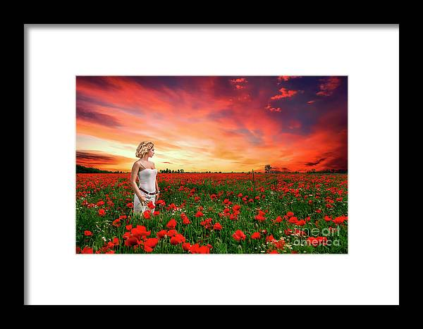 Kremsdorf Framed Print featuring the photograph Rhapsody In Red by Evelina Kremsdorf