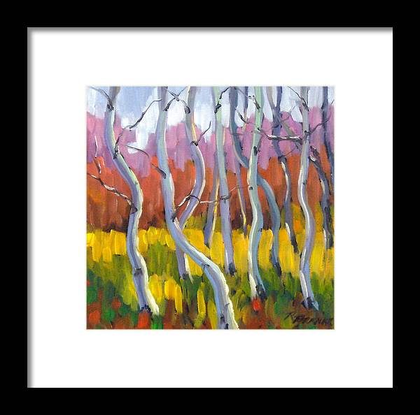 Art Framed Print featuring the painting Rhapsody No 5 by Richard T Pranke