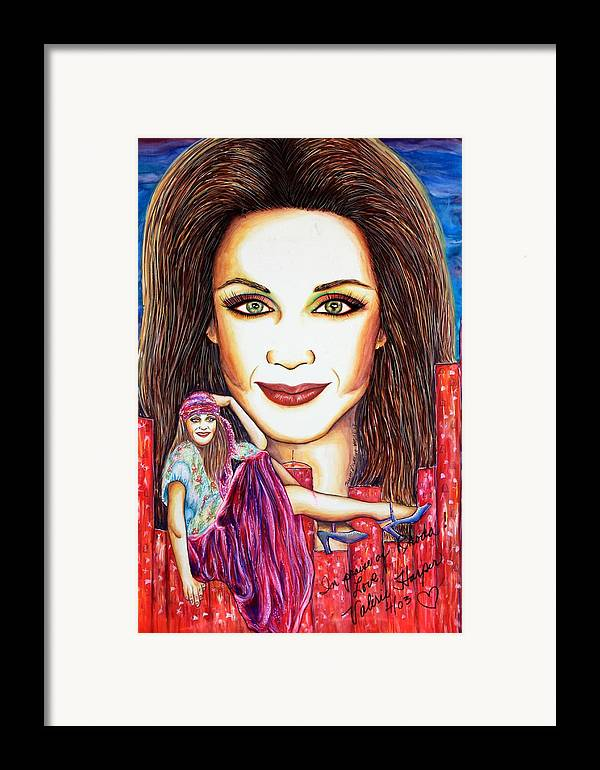 Actress Framed Print featuring the mixed media Rho by Joseph Lawrence Vasile