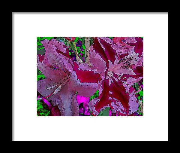 Abstract Framed Print featuring the digital art Rhody Gone Wild by Tim Allen