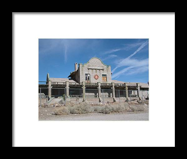 Landscape Framed Print featuring the photograph Rhyolite Station by William Thomas