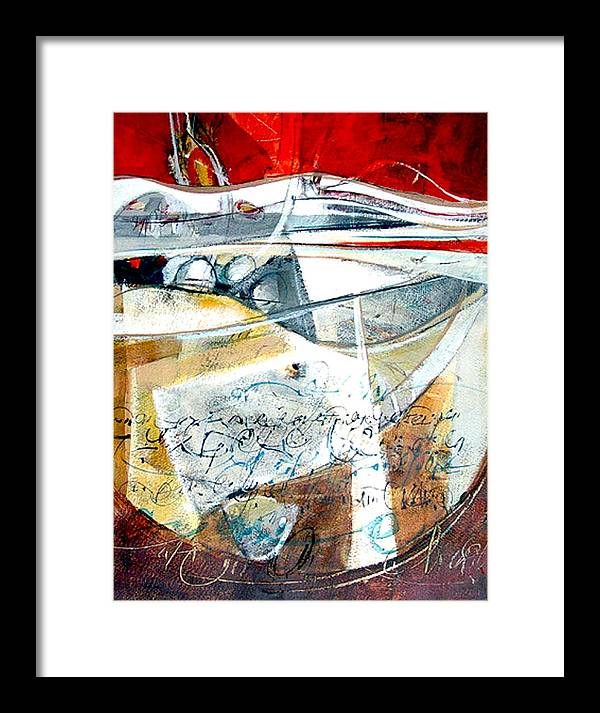 Landscape Framed Print featuring the painting Rhythm City by Dale Witherow