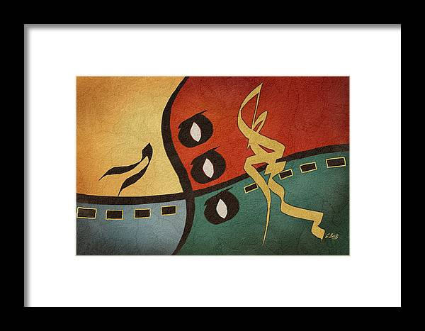 Contemporary Abstract Musical Drums Drummer Framed Print featuring the painting Rhythms by Gordon Beck